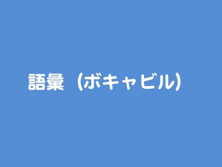 語彙 単語